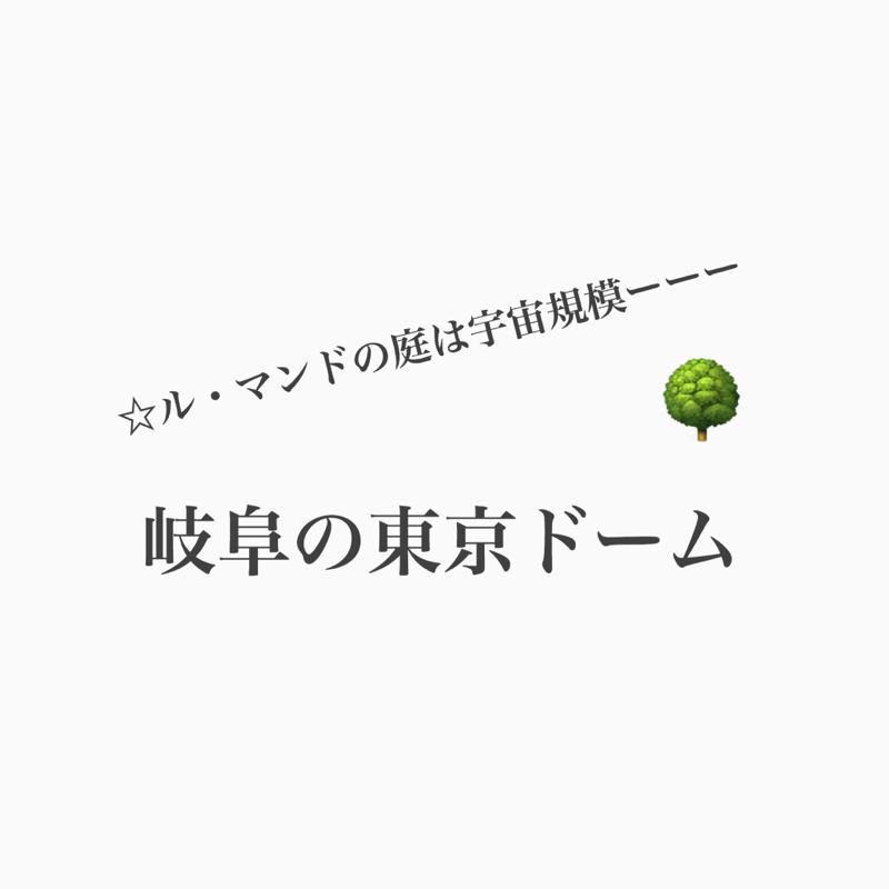 #380 ル・マンドの庭にある岐阜の東京ドーム