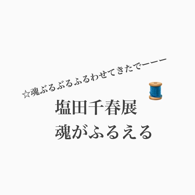 #421 塩田千春展「魂がふるえる」で、ふるえた!