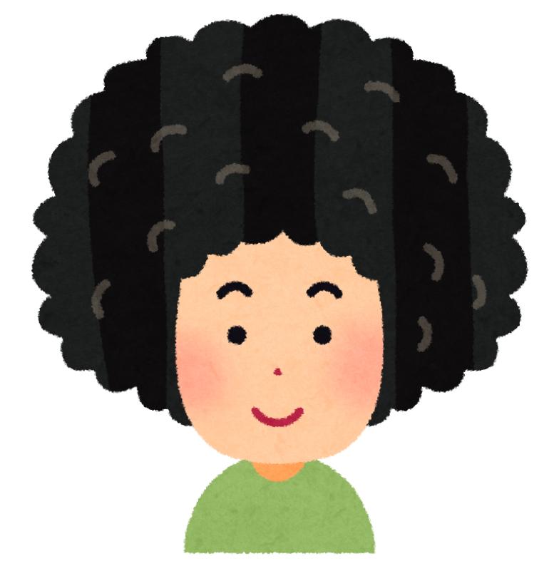 髪の毛鳥の巣の髪の毛を持つ男の話